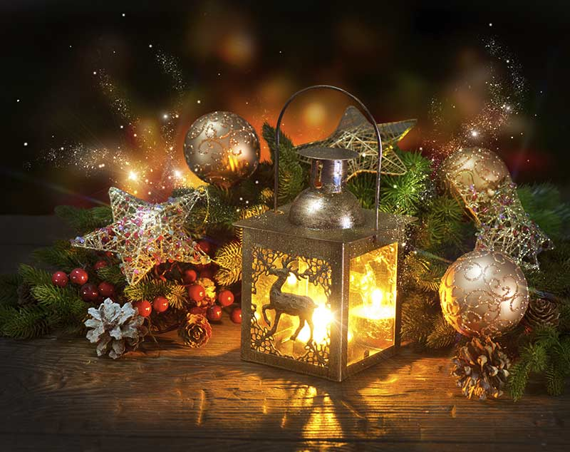 Weihnachten und Farbe